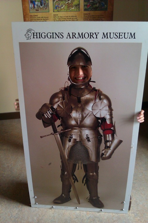 The Higgins Armory Museum truly welcomes kids!