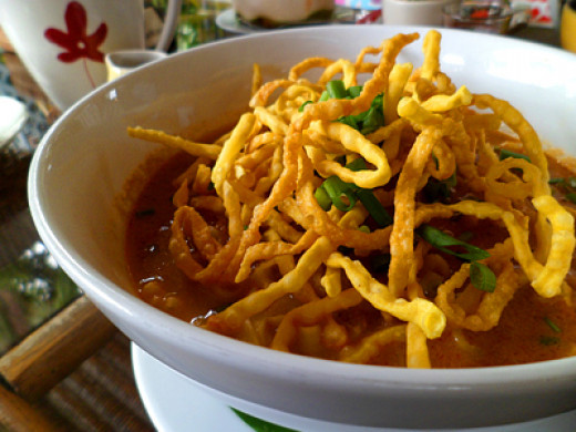 Khao soi curry noodle at Ginger & Kafe