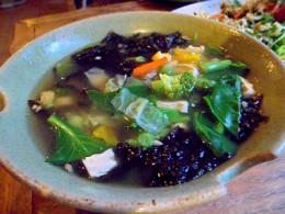 Vegetable soup at Blue Diamond