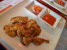 Spicy garlic chicken at Pum