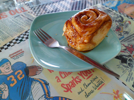 Cinnamon bun at Butter Is Better