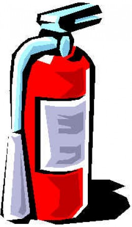 Always keep a fire extinguisher just in case of an emergency.