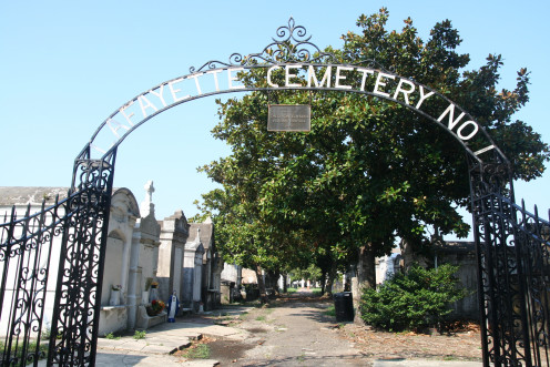 The gates of Lafayette Cemetery