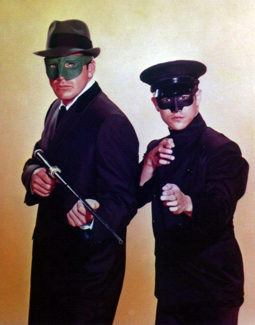 Van Williams and Bruce Lee as  The Green Hornet and Kato