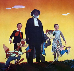 Song of the South cast photo including animated characters