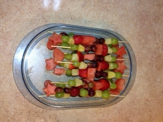 Fruit Kabobs with Watermelon toppers