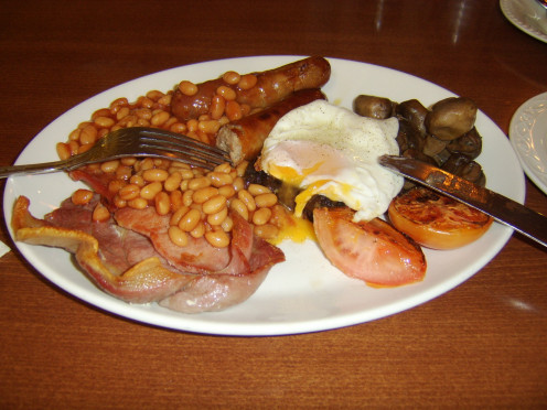 Full English breakfast at the George Hotel, Penrith