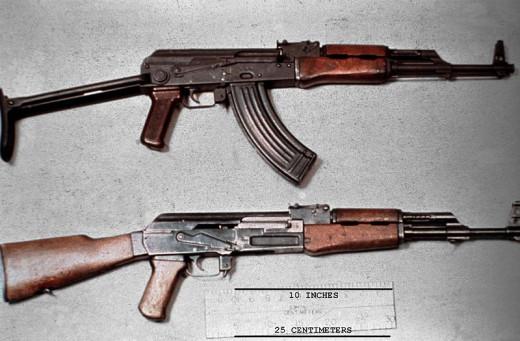 Automatic rifles.