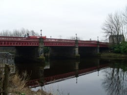 Dalmarnock Bridge Glasgow where the apparition of a young man has been seen numerous times.