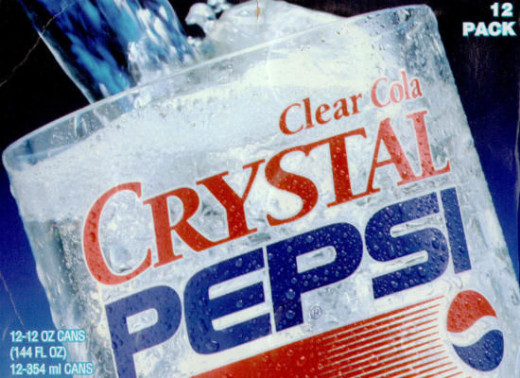 Crystal Pepsi! What a great idea...I mean BAD...BAD IDEA.