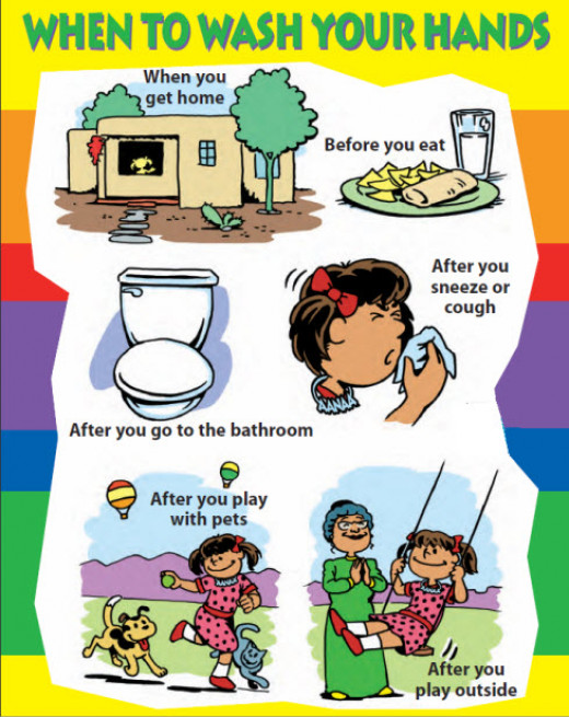 Hand washing is an easy way to prevent infection.