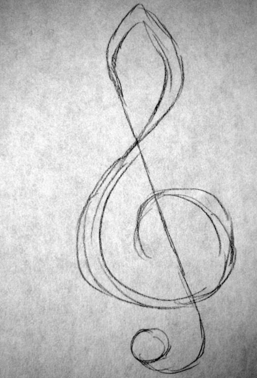 how to draw music notes symbols step by step
