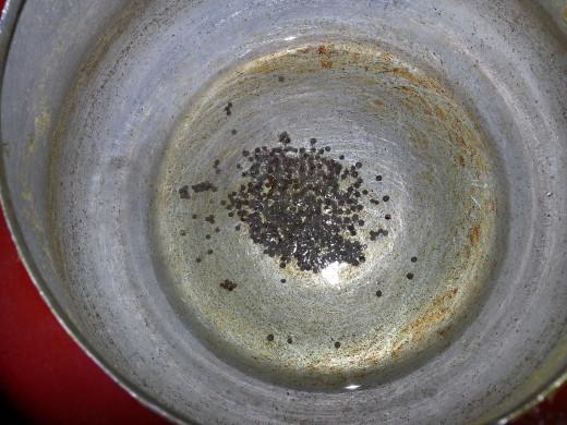 Put mustard seeds as the Oil heats up
