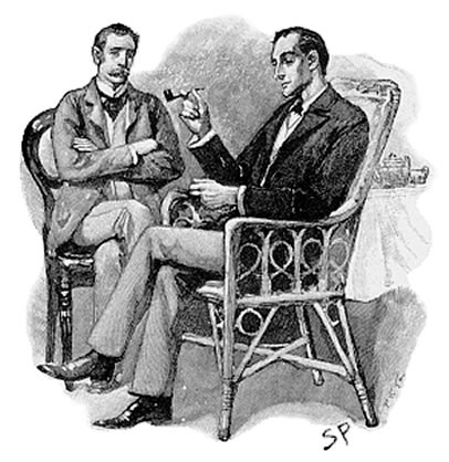 A drawing of the infamous Sherlock Holmes.