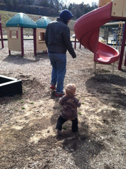 Take your child to your local park so that they can climb, run around, and explore.