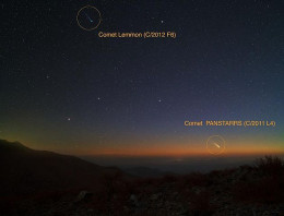 Early in March comets Lemmon and PanSTARRS were both visible in the night sky of southern Chile
