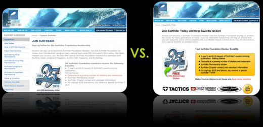 This is a very clear example of Split Testing, which shows two variants of the same landing page.