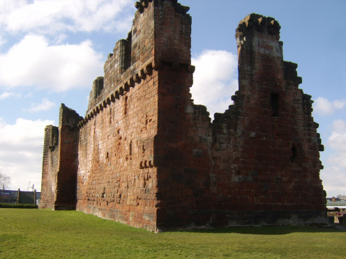 Part of the walls of Penrith Castle still stand as they have for centuries