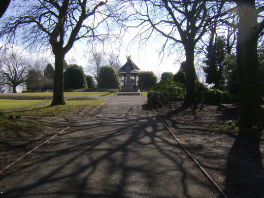 Boer War Memorial and bandstand in Penrith Castle Park