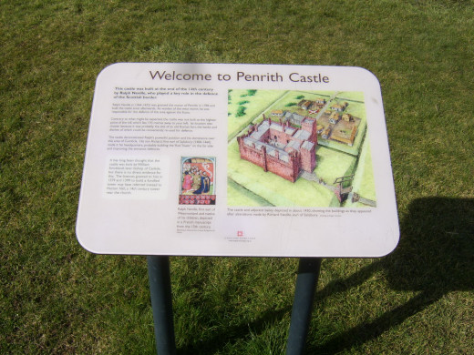 Information boards can be found at certain points around the perimeter of Penrith Castle