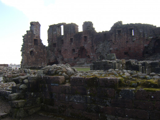 The ruined White Tower at Penrith Castle