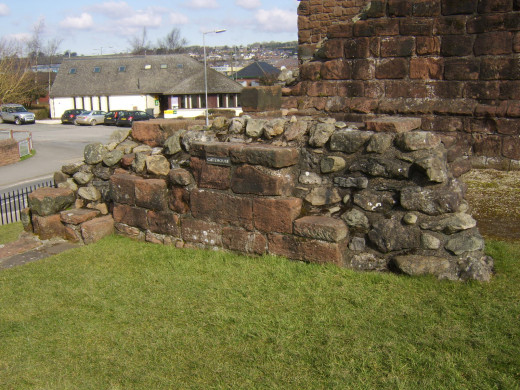 The remains of the Gatehouse at Penrith Castle