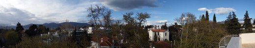 panorama from my terrace, 180 degrees