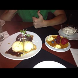 Chocolate Lava Cake and Creme Brule at Flemming's!  Yum!