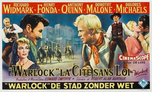 Warlock (1959) Belgian poster