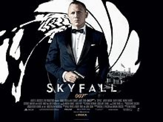 British cinema poster for Skyfall, designed by Empire Design