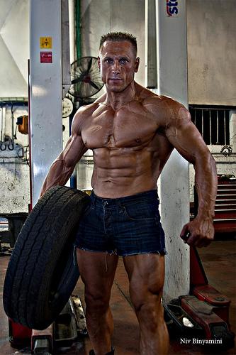 Male bodybuilder.