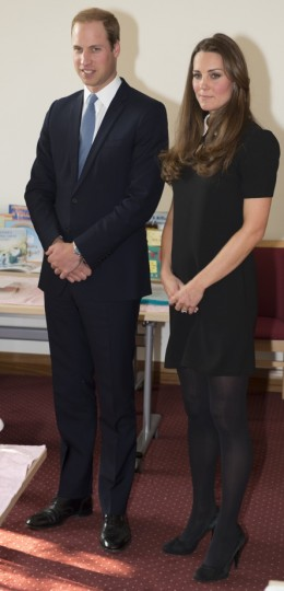 William and Kate inside the headquarters of Child Bereavement Center