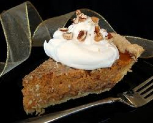 Praline Pumpkin Pie- Don't Forget the Whipped Cream!