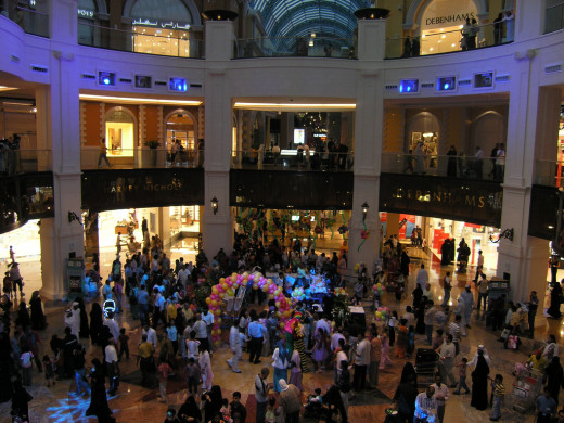 Various shops in Mall of Emirates