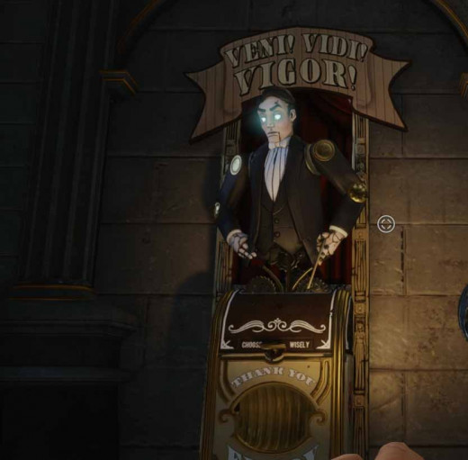 Bioshock Infinite Upgrade Vigor at the monument island gateway gondola station