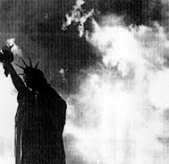 What do you see behind Lady Liberty?