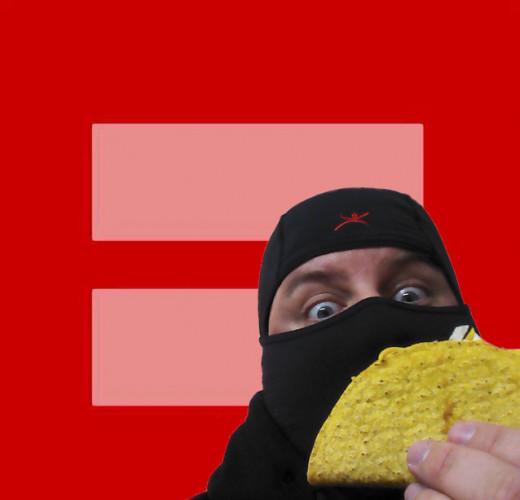 Nothing says equality like a ninja with a taco!