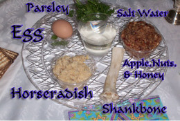 A Passover Seder plate.