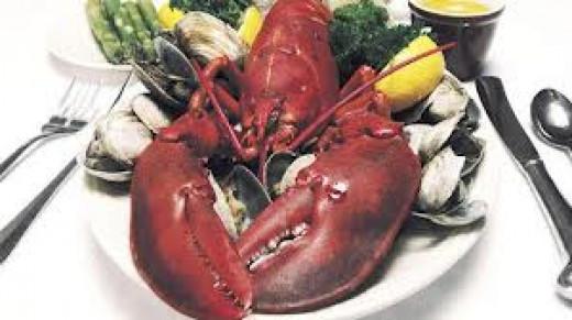 Maine lobster dinner.