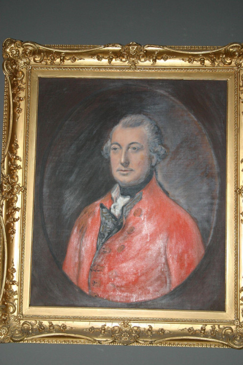 The portrait of Lord Cornwallis hanging in the National Park Service Visitor Center at the Yorktown battlefield.