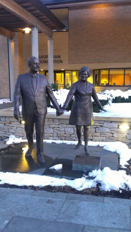 The Kauffmans are well revered in KC for their philanthropy. We met at the Kauffman Education Center.