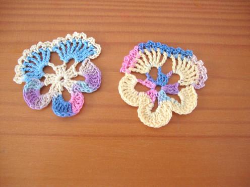 Photo: Crocheted Pansies