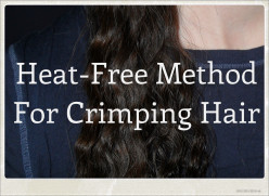 Heat-Free Method for Crimping Hair
