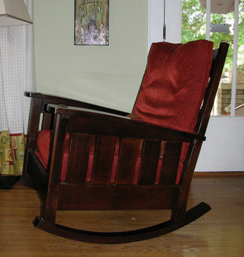 The lines of an Arts and Crafts chair are instantly recognizable.