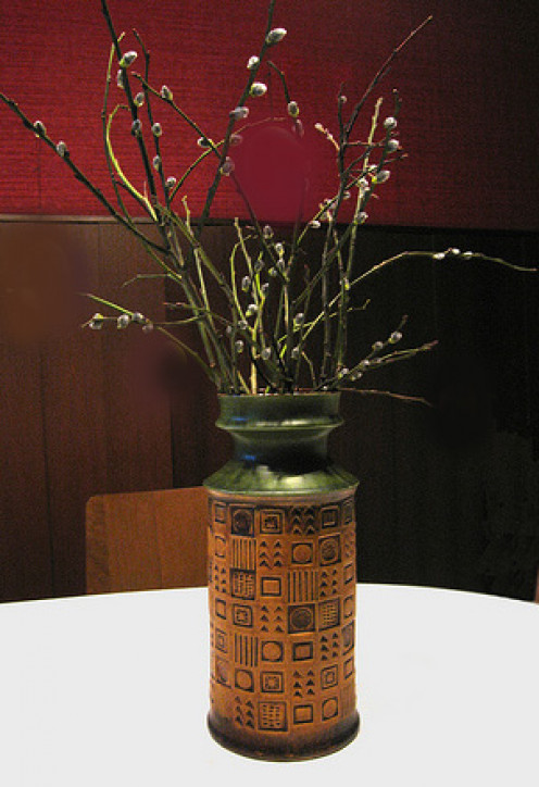 This vase would look right at home in an Arts and Crafts home.
