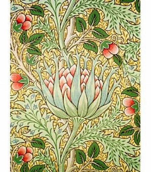 This William Morris wallpaper is great color inspiration for an Arts and Crafts room.