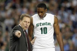 Coach Tom Izzo of the Michigan State Spartans