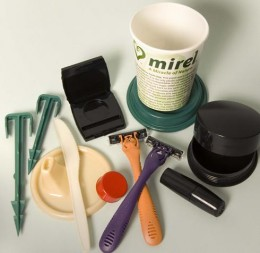 Some biodegradable products from Mirel.
