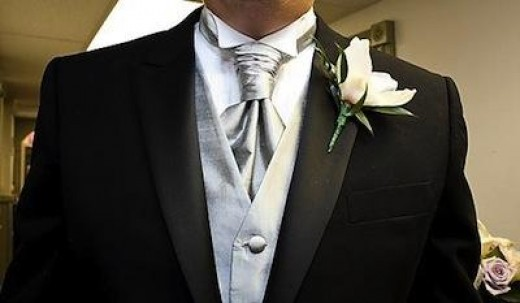 The wedding cravat is a little old school, but it doesn't look at all out of place. Check out this modern looking cravat.
