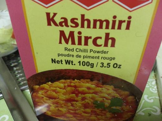 Take two spoons of Kashmiri Mirch